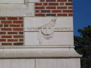 """The cornerstone of our school, in every sense of the word, translates to, """"For God, For Country."""""""